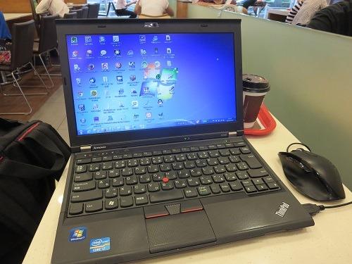 (写真1)すでに2年半のあいだ使用しているレノボ(Lenovo、聯想)のX230
