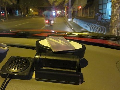 (写真3)こんな感じでタクシー代の支払いに公共交通カードを利用できる