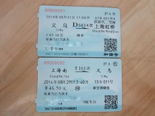 (写真7)入手した鉄道のチケット