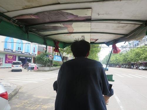 (写真7)人力三輪車から撮影した様子