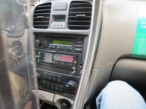 (写真5)義烏(イーウー)のタクシーはメーター制、初乗り運賃は5元