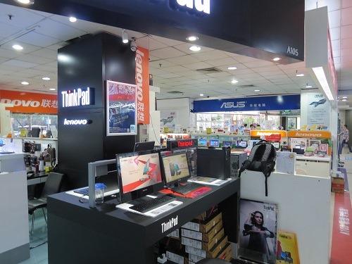 (写真4)パソコン街にはLenovoやAsus(エイスース)など各メーカーの代理店が入っている