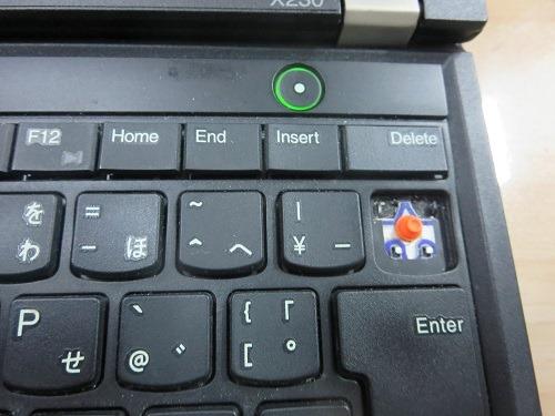 (写真2)外れた部分の赤い突起物を押すとBackspaceは反応してくれる