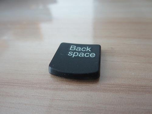 (写真3)作業効率を考えるとBackspaceキーはDeleteキーで代用できない