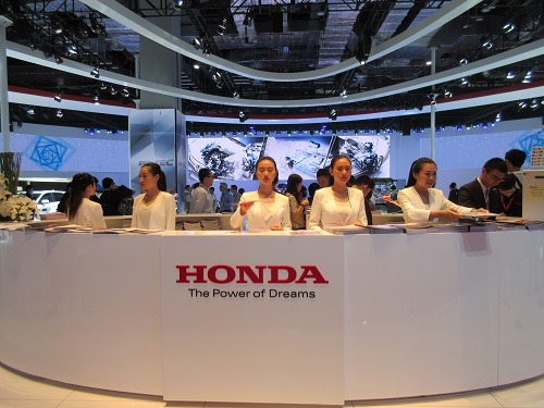 (写真2)上海モーターショーでのホンダ(HONDA)の展示ブース
