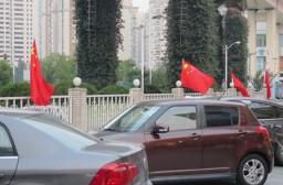 (写真1)世界最大の自動車市場になっている中国、街中に自動車があふれる