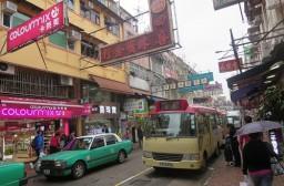 (写真1)中国本土と雰囲気がガラッと異なる香港の街中のようす