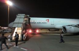 (写真1)ソウル経由でも乗り継ぎ時間は短いアシアナ航空