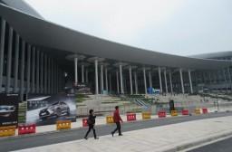 (写真1)世界最大規模の展示会場、巨大な国家会展中心(上海市)