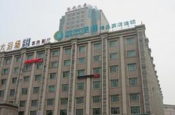 (写真1)金山区の中心部に位置する城市便捷酒店(上海市・金山区)
