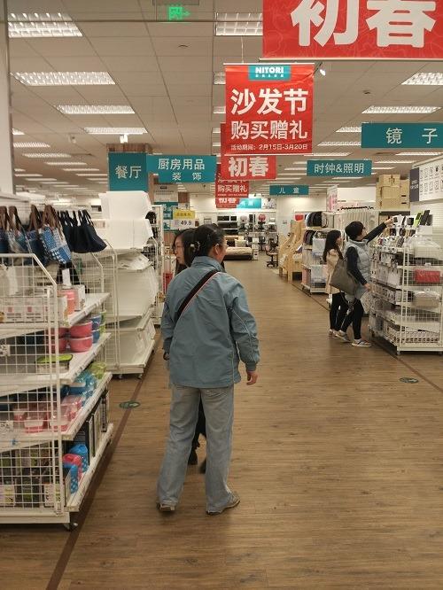 (写真4)日本のニトリと雰囲気は変わらない