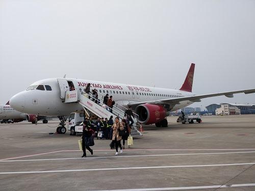 (写真1)日本人にまだ馴染みの薄い上海吉祥航空
