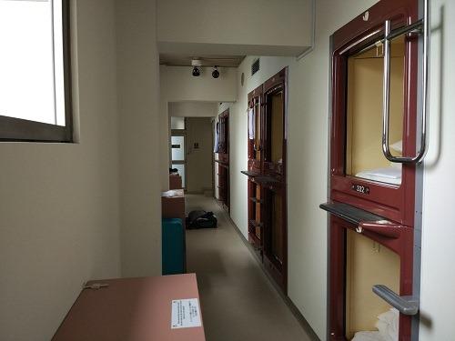 (写真5)オークホステルキャビンのカプセルエリア