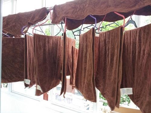 (写真3)小型タオル100枚、洗濯した後に干す場所がない
