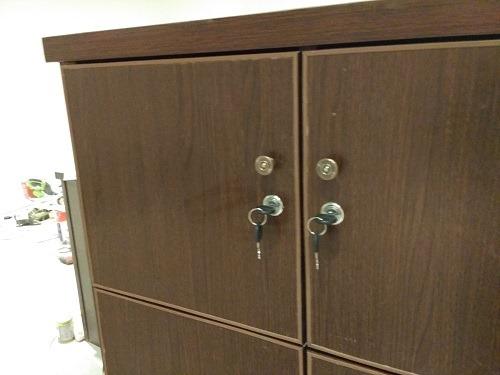(写真2)顧客が安心できるように鍵付に加工してもらった