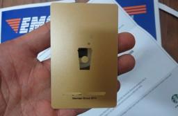 (写真1)中国のゴールドレベルの星享卡、名前も明記されている