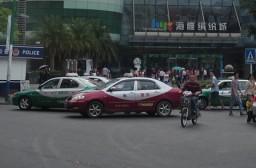 (写真1)料金面で日本よりも使いやすい中国のタクシー(広東省深セン市)